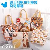 NORNS【迪士尼帆布手提袋 奇奇蒂蒂】正版 花栗鼠 便當袋 手提包包 購物袋 小提袋 卡通