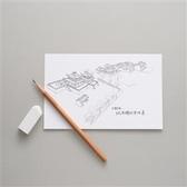 【手繪風-臺南古城系列】老城市新味道明信片:赤崁樓