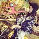 (都有現貨)韓國熱賣 仿羊絨 雙面 菱格 小格子AngelNaNa  女圍巾 披肩 (SSA0011)