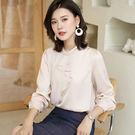 雪紡衫長袖超仙時尚荷葉邊上衣襯衫(三色M-2XL可選)-設計家 ZY3379