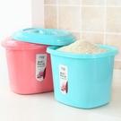 加厚塑料米桶儲米箱防潮可裝10kg廚房帶...
