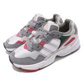 adidas 老爹鞋 Yung-96 灰 紅 網布鞋面 復古 老爺鞋 爸爸鞋 運動鞋 女鞋 男鞋【PUMP306】 DB2608