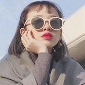 ins白框小臉墨鏡女韓版潮復古港風蹦迪網紅阿沁同款街拍太陽眼鏡