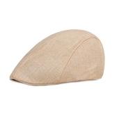 鴨舌帽-純色棉麻復古百搭男女貝雷帽7色73tv142【時尚巴黎】