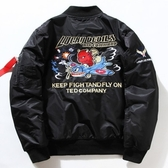空軍外套-小惡魔刺繡加厚立領男女MA1夾克(單件)3色72av22[巴黎精品]