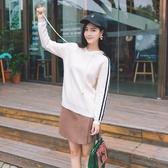 針織衫-連帽時尚簡約線條休閒女毛衣73tp46【巴黎精品】