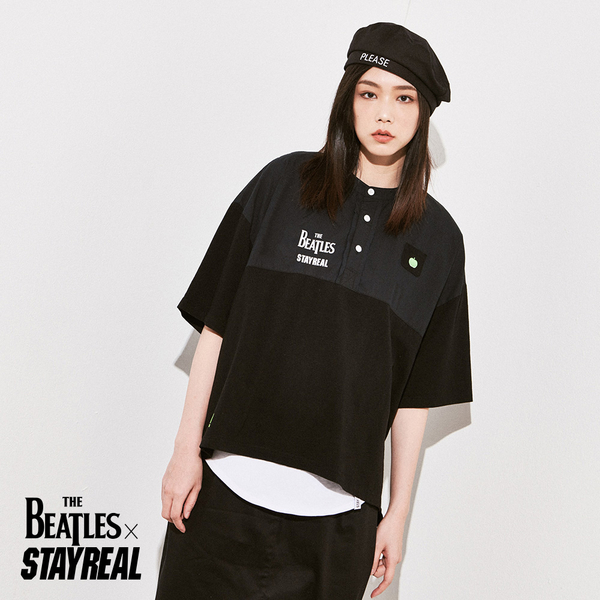 STAYREAL x The Beatles 文青小立領衫