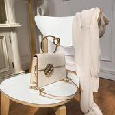 米蘭 小眾五金手提包包女包2019新款高級感洋氣錬條包單肩斜背包/側背包