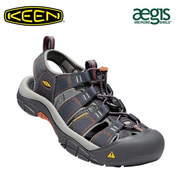 【KEEN 美國 男 NEWPORT H2 護趾涼鞋《藍橘》】1001931/水陸兩用鞋/戶外休閒鞋/運動涼鞋