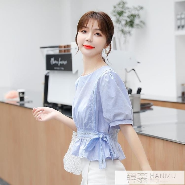 氣質雪紡襯衫短袖女夏裝2021年夏季新款潮流小衫洋氣上衣時尚春裝 夏季新品