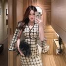 小禮服 御姐風名媛氣質夏季套裝女2020年新款短外套小香風洋氣網紅兩件套