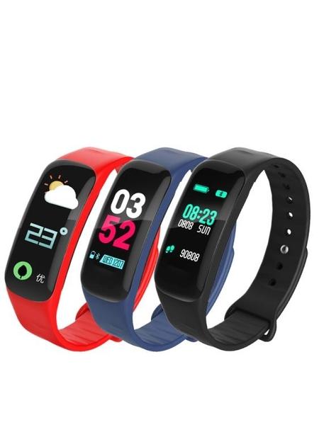 智慧手環 血壓心率運動彩屏智慧手環防潑水情侶腕錶手錶vivo華為米3男女通用