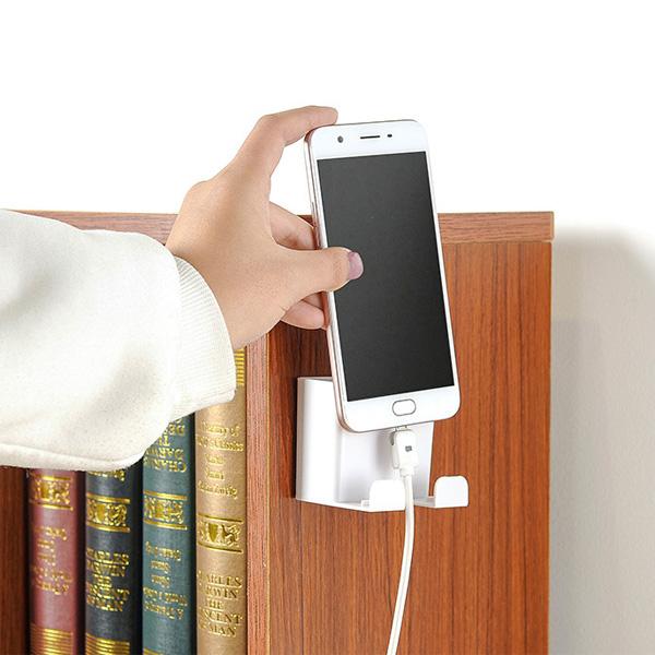 【BlueCat】踢腳丫 插座 遙控器 手機充電架 無痕置物架