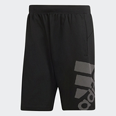 【現貨】Adidas 4KRFT 男裝 短褲 慢跑 訓練 吸汗快乾 透氣 口袋 大LOGO 黑【運動世界】DU0934