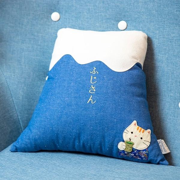 富士山景舒眠抱枕