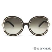 Chloe 墨鏡 CE711SA 303 (透灰) 簍空邊 圓框 太陽眼鏡 久必大眼鏡