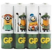 GP 超霸 霸-那那 環保碳鋅電池 3號 4入 小小兵聯名款