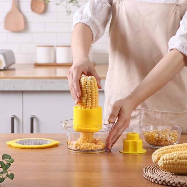 家用削皮玉米脫粒機不銹鋼刨玉米刀廚房小工具剝玉米器剝玉米神器 淇朵市集