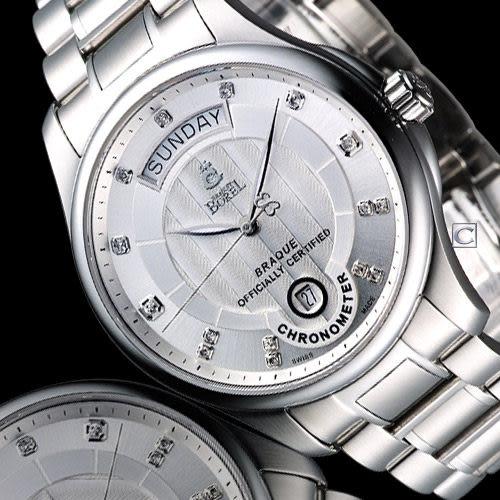 依波路 E.BOREL 布拉克系列機械腕錶 GS7350WC3-2590【寶時鐘錶】