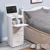 梳妝台臥室小戶型現代簡約實木經濟型網紅簡易小型翻蓋迷你化妝柜igo 美芭