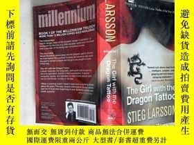 二手書博民逛書店The罕見Girl with the Dragon Tattoo