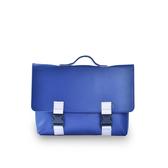 (五折)M.R.K.T. Kel Briefcase 極簡皮革拼接方形公事包-134478A BLUE (藍色)