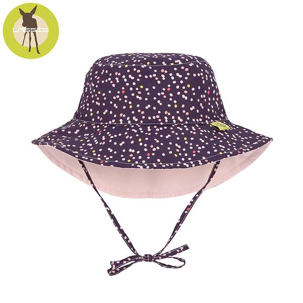德國LASSIG-嬰幼兒抗UV海灘遮陽帽-小點點