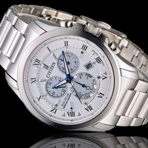 星辰 CITIZEN 光動能雙時區萬年曆限定腕錶 BL5540-53A