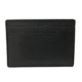【COACH】壓印LOGO信用卡片名片夾(黑)