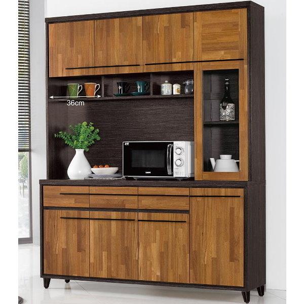 櫥櫃 餐櫃 QW-633-4 川普5尺餐櫃(上+下)【大眾家居舘】