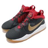 Nike 籃球鞋 Team Hustle D 9 GS 黑 紅 女鞋 大童鞋 膠底設計 運動鞋 【ACS】 AQ4224-011
