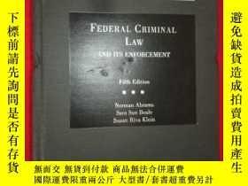 二手書博民逛書店Federal罕見Criminal Law and Its En