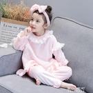 秋冬款女童珊瑚絨家居服寶寶法蘭絨長袖公主睡衣睡褲兒童套裝    現貨快出