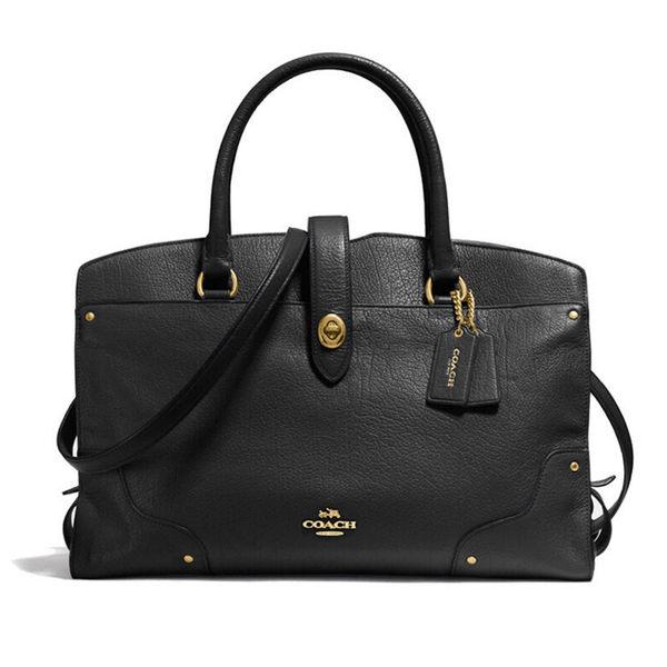COACH 37575 女包斜跨時尚休閑女士手提包中號黑色