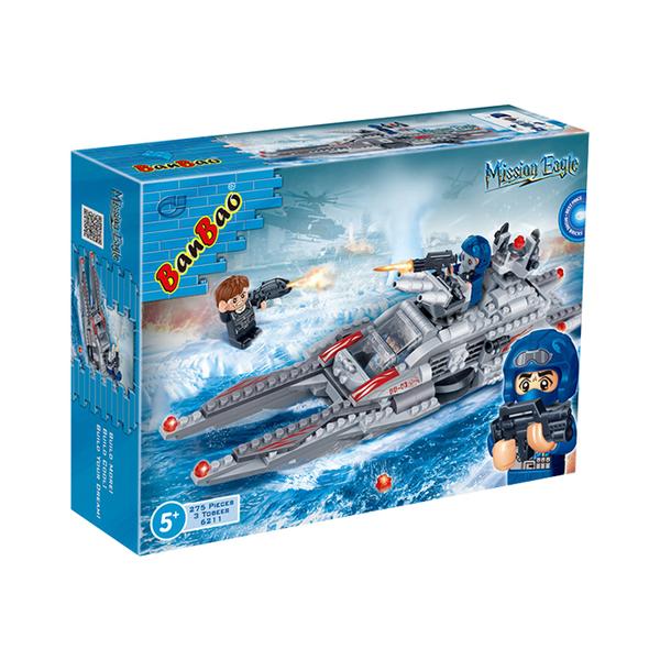 超級警察系列 NO.6211雪鶻戰艦【BanBao邦寶積木楚崴】