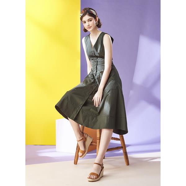 ★2018春夏★Keeley Ann完美顯瘦~素面質感編織真皮楔形涼鞋(棕色) -Ann系列