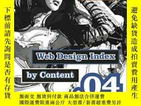 二手書博民逛書店Web罕見Design Index By Content 04Y