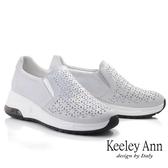 Keeley Ann我的日常生活 珍珠光澤鏤空氣墊休閒鞋(藍色) -Ann系列