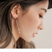 《ZC1203》亮眼光芒水鑽球耳夾式耳環 OrangeBear