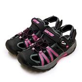 LIKA夢 LOTTO 專業排水護趾磁扣運動涼鞋 水陸冒險系列 黑桃灰 1700 女
