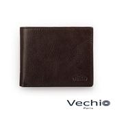 【VECHIO】經典商務男仕系列-4卡零錢袋皮夾(枯葉棕)VE042W06BR