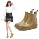 高跟雨鞋女短筒雨鞋女士水鞋秋款時尚內增高跟鞋防滑學生雨靴可愛套腳鞋膠鞋 快速出貨