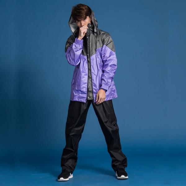 君邁雨衣,御風者兩件式風雨衣,紫