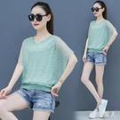 2020新款韓版夏季遮肚子女士雪紡衫短袖時尚洋氣超很仙的蕾絲上衣 LF4702【極致男人】