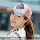 又敗家@Midailuo韓版牛仔磨破美式街頭風遮陽帽Shine透氣帽賽車帽棒球帽高爾夫球帽遮陽防曬帽子