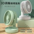 3D渦輪循環風扇 循環扇 桌面風扇 USB風扇 可調角度 大風力 兩檔風速 超靜音 (插電款)