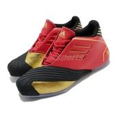 adidas 籃球鞋 T-Mac 1 紅 黑 男鞋 黃忠 運動鞋 三國時代 五虎上將設計概念【PUMP306】 FW3655