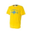 [Wildland] RE印花排汗抗UV圓領上衣 - 米黃、地中海藍 (男) (0A51696)