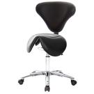 GXG 立體泡棉 小馬鞍加椅背 工作椅 (寬鋁腳+防刮輪) 型號81T8 LU1X