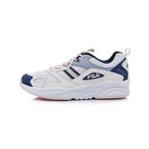 FILA MORGAN 女款藍白粉三色系運動鞋-NO.5J314U141